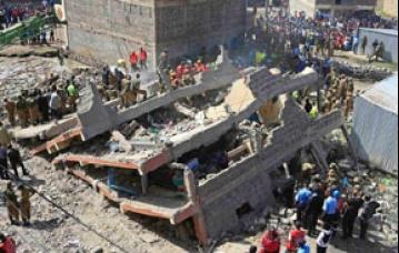 কেনিয়ার ভবন ধস : নিখোঁজের সংখ্যা বেড়ে ১২১