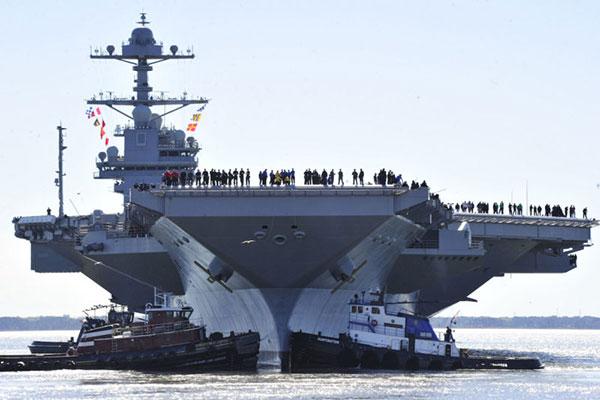 মার্কিন নৌ-বহরে যুক্ত হয়েছে সবচেয়ে বড় পরমাণু যুদ্ধজাহাজ