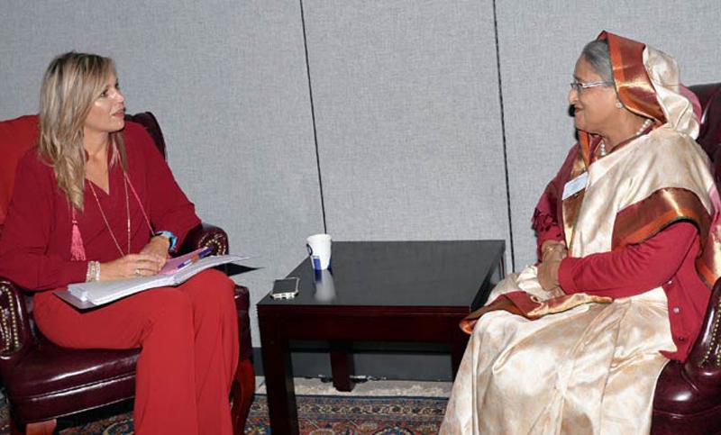 প্রধানমন্ত্রীর সাথে থেরেসা মে, এরদোয়ানের সাক্ষাৎ