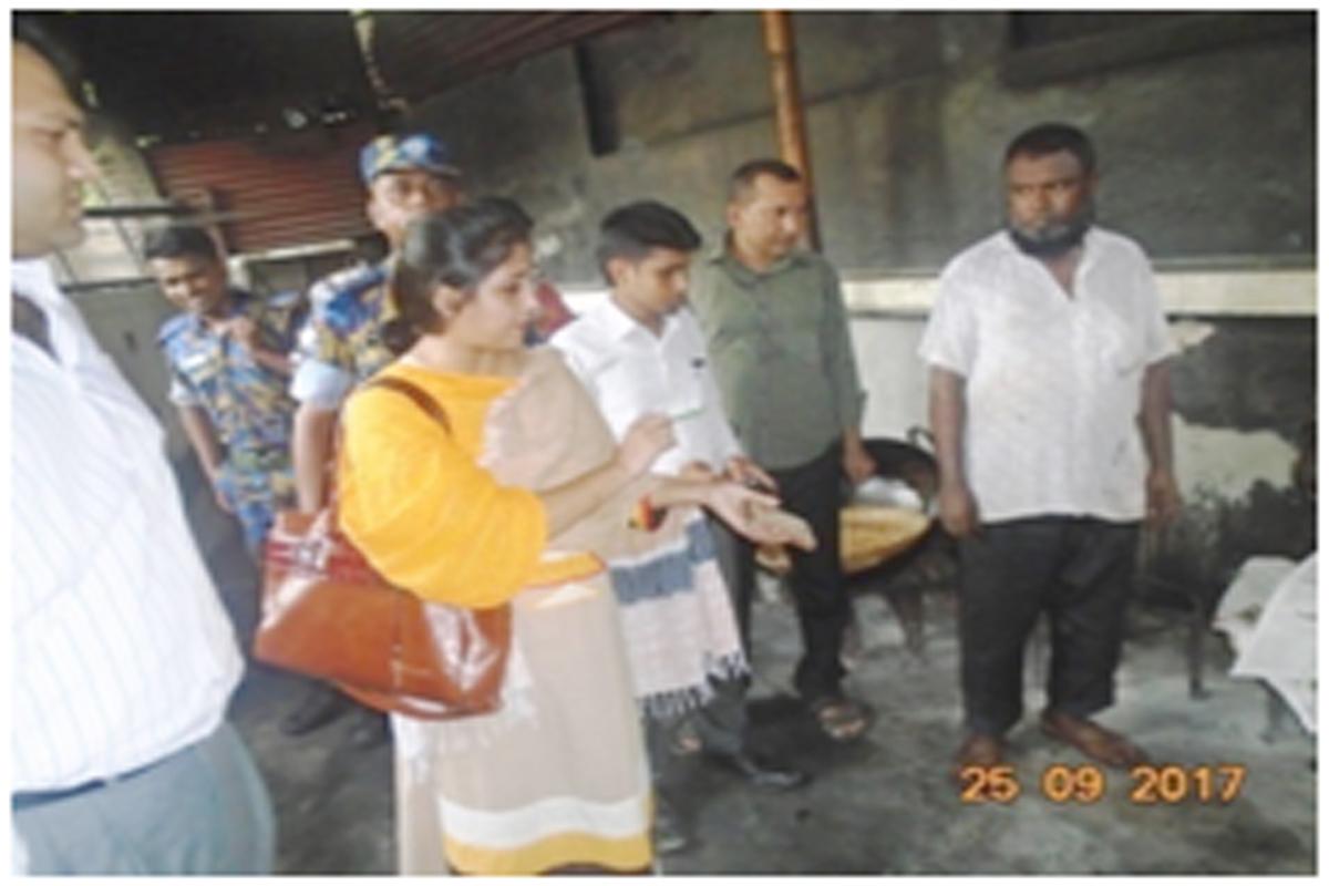 রমনা ও পল্টনে ০৪ প্রতিষ্ঠানকে ২,১৫,০০০ টাকা জরিমানা