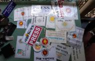সরকারি দপ্তর ও প্রেসের স্টিকারসহ শতাধিক অবৈধ ফ্লাগস্ট্যান্ড উদ্ধার