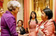 ব্রিটিশ প্রধানমন্ত্রী থেরেসা মে'র সাথে স্পিকারের সৌজন্য সাক্ষাৎ
