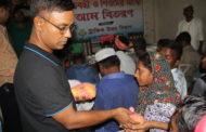 প্রতিবন্ধী ও পথশিশুদের মাঝে মৌসুমী ফল বিতরণ করল ট্রাফিক উত্তর বিভাগ