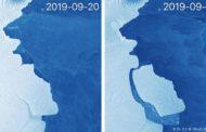 স্কটল্যান্ডের সমান বরফ খণ্ড ভেঙে পড়ল অ্যান্টার্কটিকায়