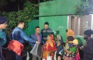 সুবিধা বঞ্চিতদের পাশে শীতবস্ত্র নিয়ে ট্রাফিক উত্তর বিভাগ