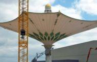 মক্কায় তৈরি হচ্ছে  বিশ্বের সবচেয়ে বড় ছাতা