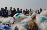 নৌ পুলিশ'র অভিযানে চার কোটি মিটার কারেন্ট জাল উদ্ধার