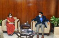কৃষিমন্ত্রীর সাথে ভারতের হাইকমিশনারের সাক্ষাৎ