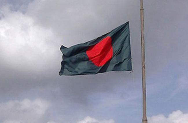 জাতীয় শোক দিবসে জাতীয় পতাকা অর্ধনমিতভাবে উত্তোলন করার নিয়ম